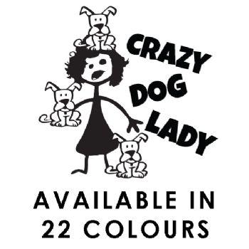 Crazy Dog Lady Car Sticker Funny Vinyl Decal Window Laptop